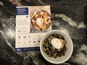 Our Mediterranean Lentil Bowl Blue Apron meal - only 2 points!