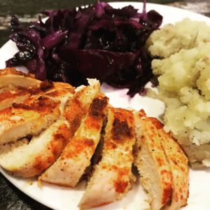 Blue Apron roasted chicken meal