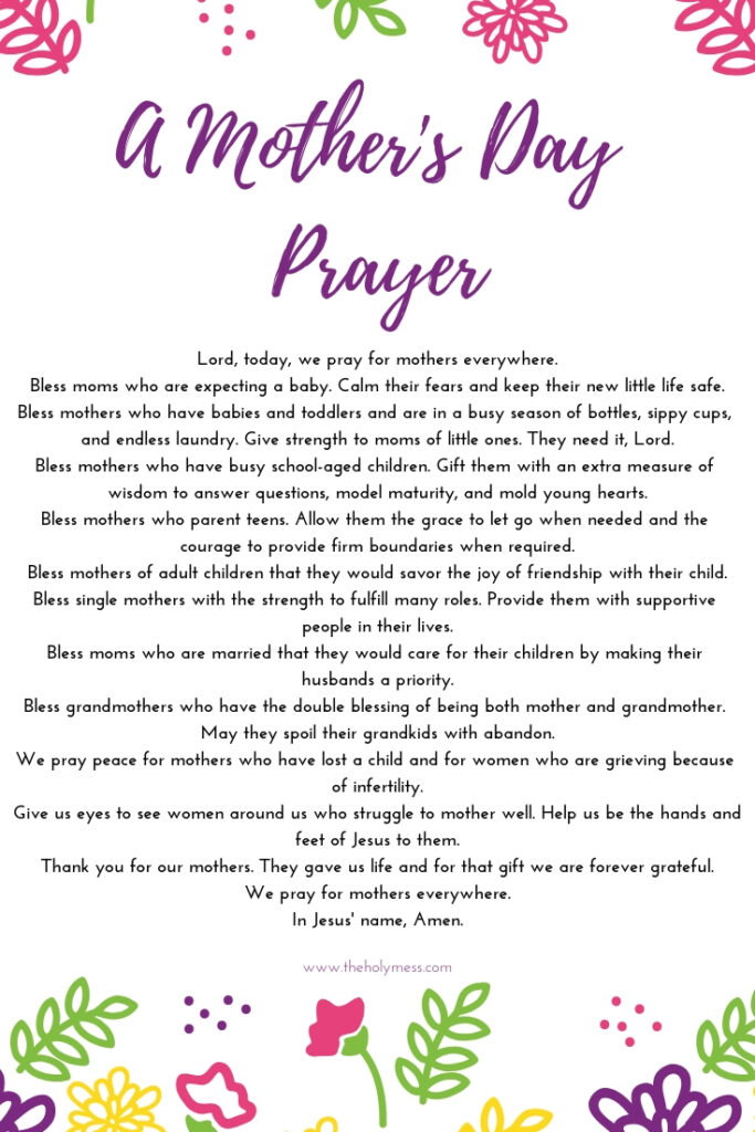 A Prayer for Moms on Mother's Day