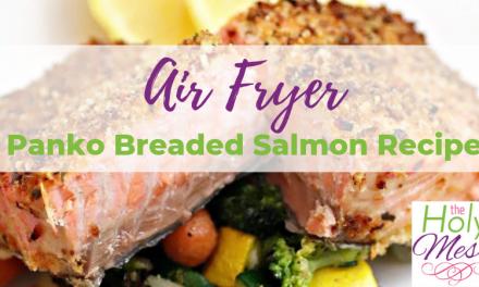 Air Fryer Panko Breaded Salmon Recipe – Healthy Air Fryer Dinner Recipe