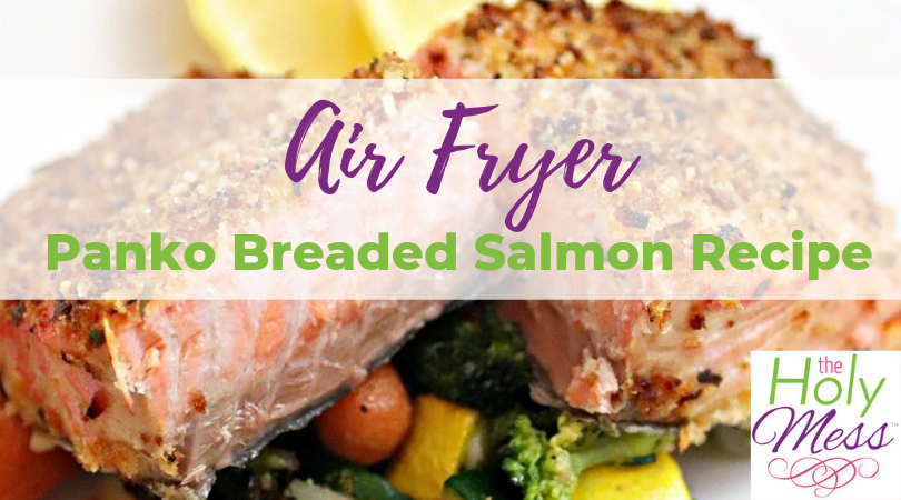 Air Fryer Panko Breaded Salmon Recipe – Healthy Air Fryer Dinner Recipe