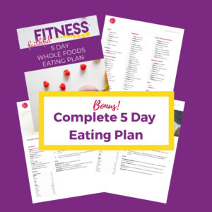 Complete 5 day eating plan for weight loss