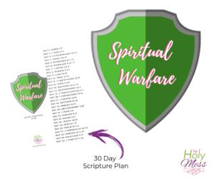 Free printable study plan about spiritual warfare