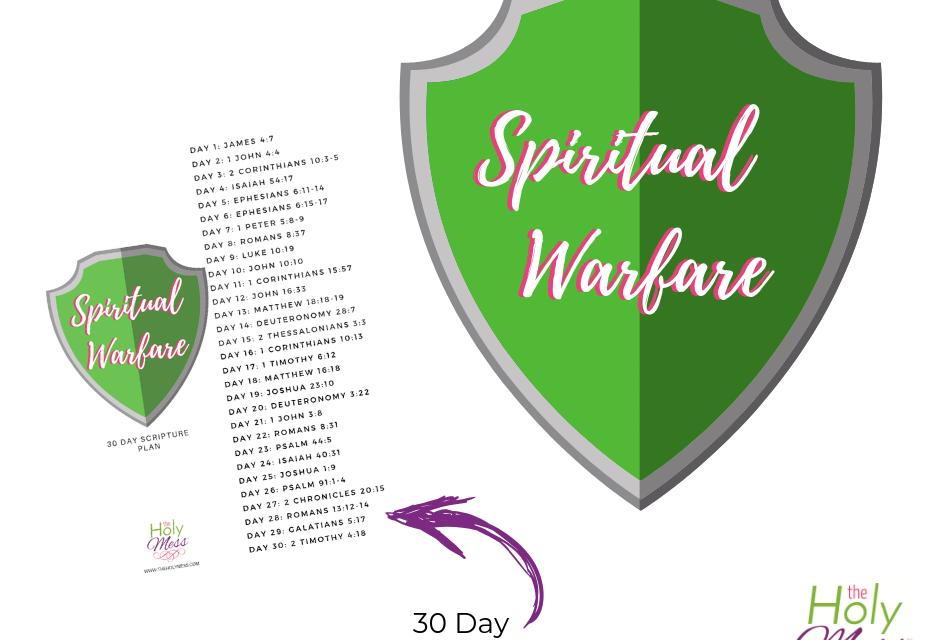 30 Day Spiritual Warfare Bible Reading Plan The Holy Mess