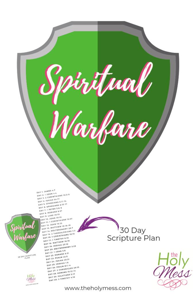 30 Day Spiritual Warfare Bible reading study plan free printable