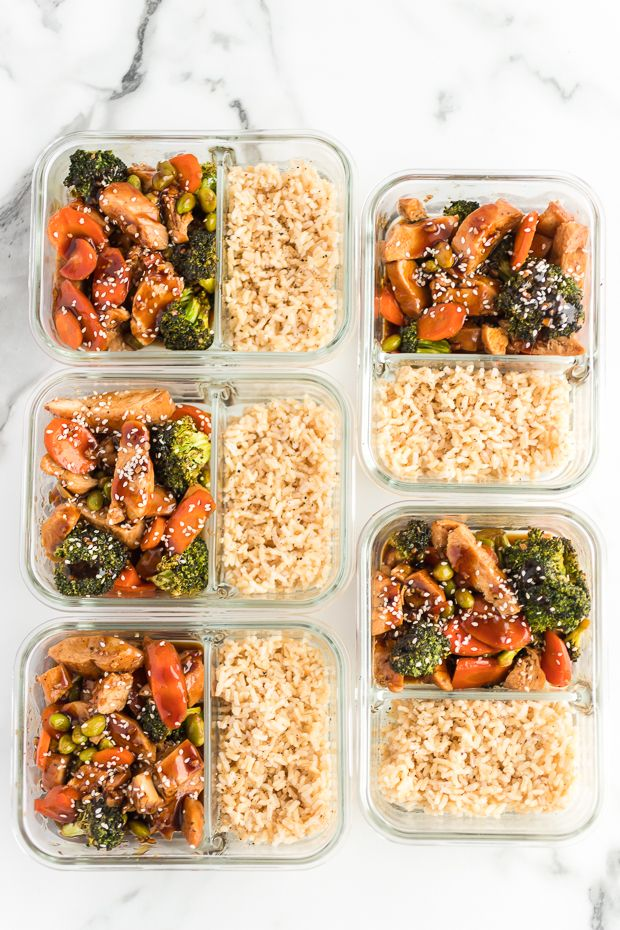 Meal Prep for WW Teriyaki Chicken