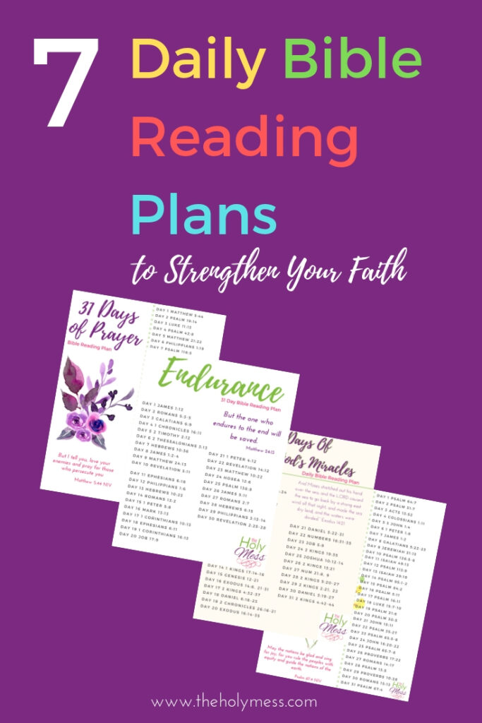 7 Daily Bible Reading Plans to Grow in Faith