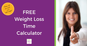 Free weight loss time calculator