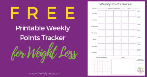 Weight Watchers points free printable tracker
