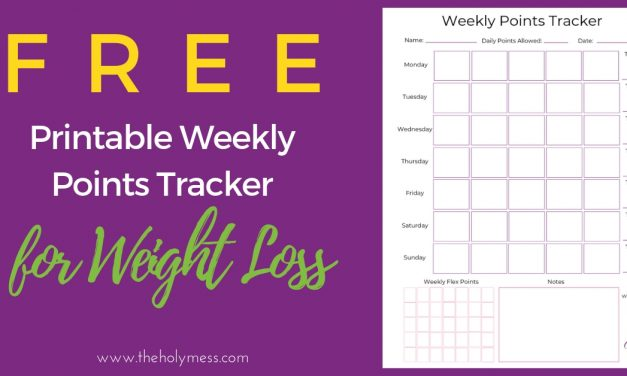 Weekly Points Tracker for Weight Loss – Free Printable