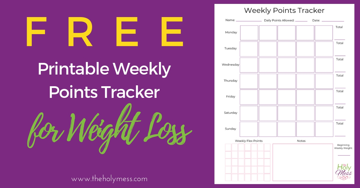 Free weekly points tracker