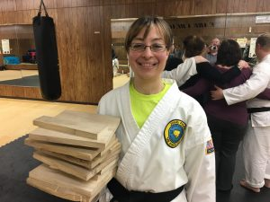 Broken boards from black belt test