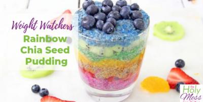 Weight Watchers Rainbow Chia Seed Pudding