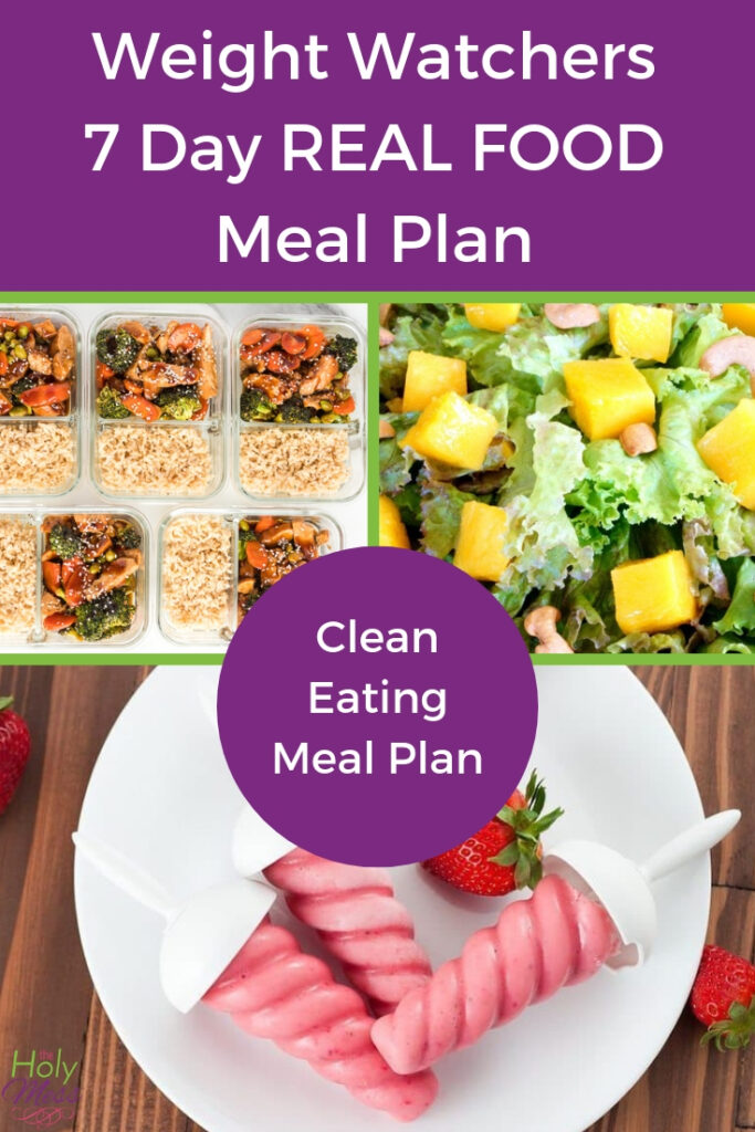 Weight Watchers 7 Day Real Food Meal Plan