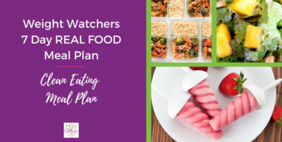 Weight Watchers Clean Eating Meal Plan