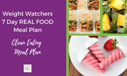 Weight Watchers Real Food 7 Day Meal Plan