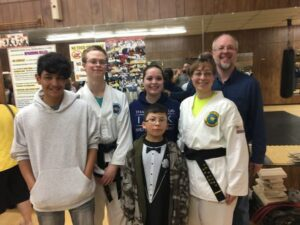 Black belt test day - goal accomplished with the support of my family.