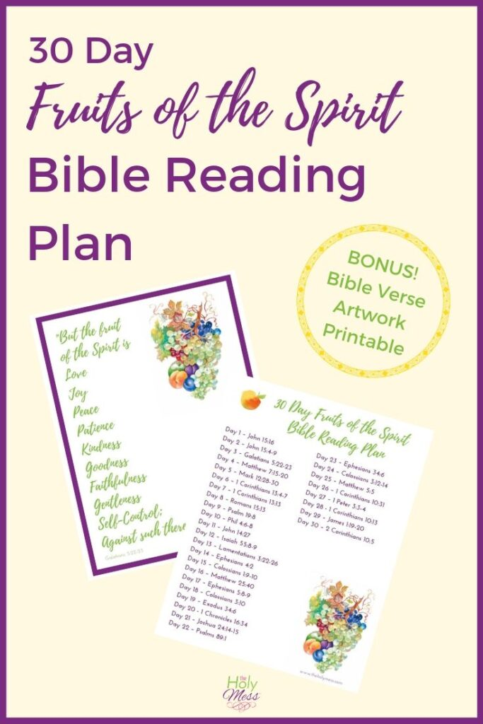 30 Day Fruits of the Spirit Bible Reading Plan