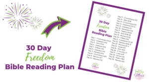 Bible reading plan about freedom - free daily plan