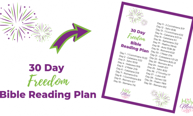 30 Day Freedom Bible Reading Plan