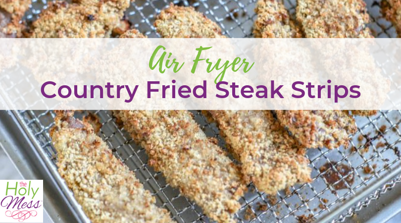 Air Fryer Country Fried Steak Strips with Gravy Recipe