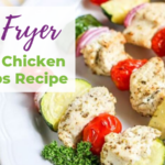 Air Fryer Greek Chicken Kebabs