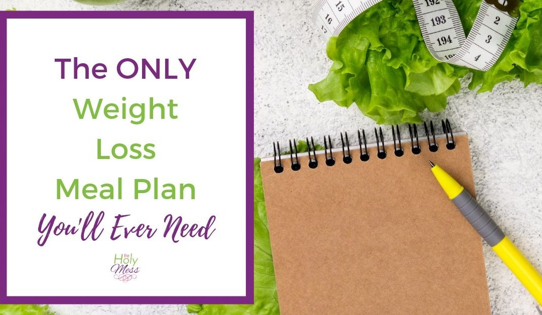 The ONLY Weight Loss Meal Plan You Will Ever Need
