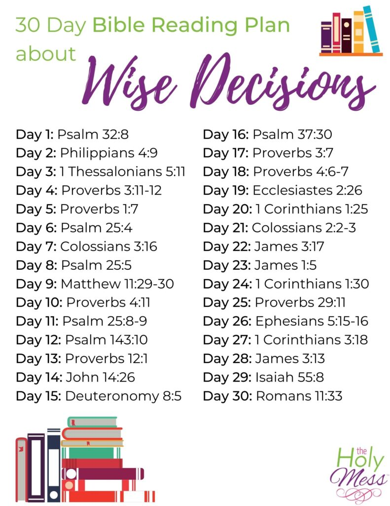 Bible verses about decisions, free download