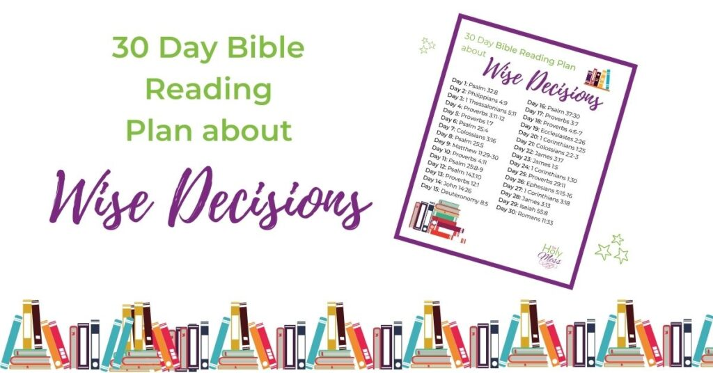 Bible reading plan about wise decisions