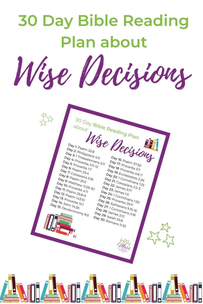 Bible Verses about Wise Decisions