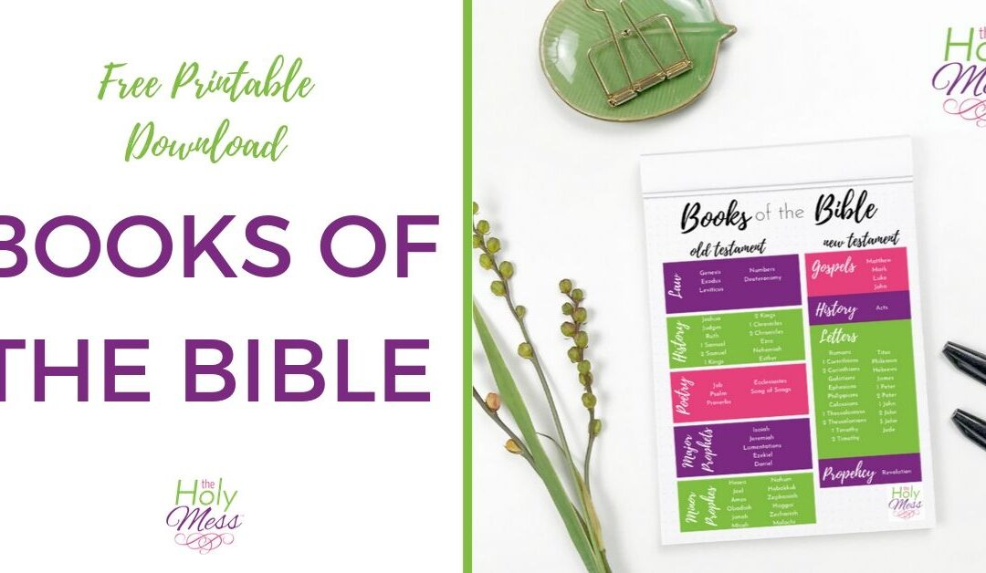 What Are the Books of the Bible? {Free Books of the Bible Printable}