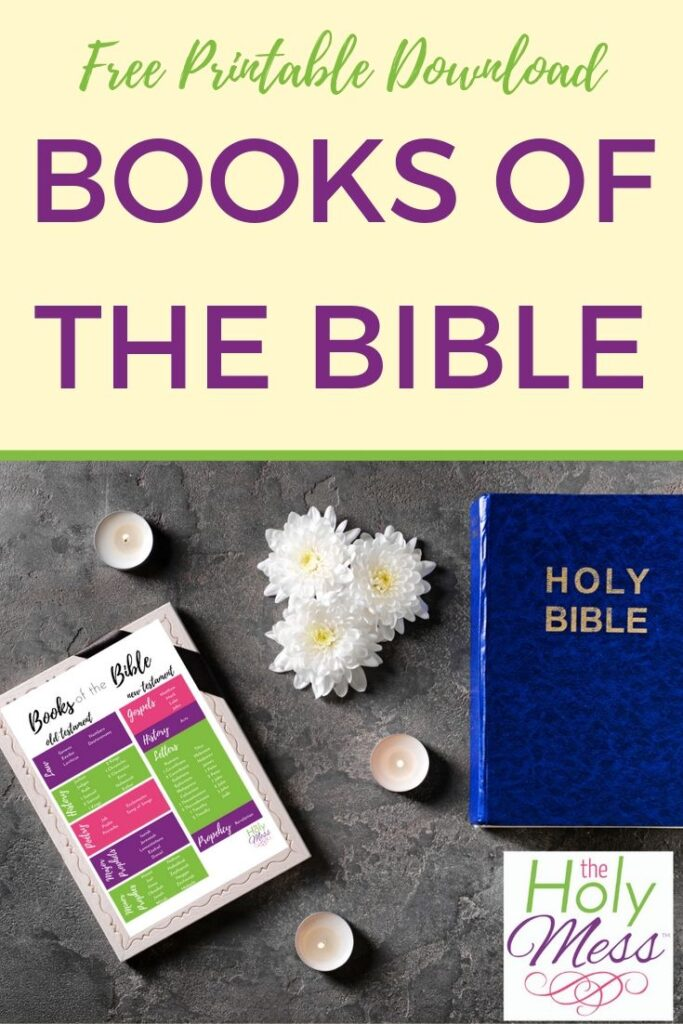 Learn the books of the Bible. Free Printable.