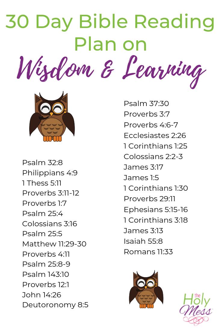 Bible Verses on Wisdom