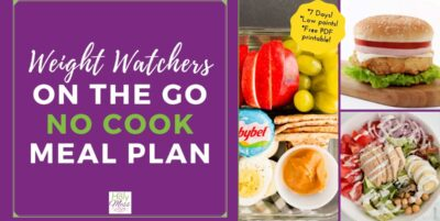 WW 7 Day No Cooking Meal Plan