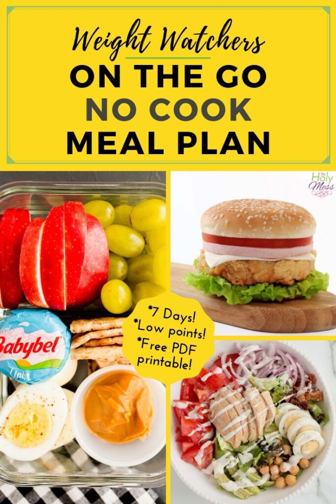 Weight Watchers No Cook Meals and Meal Plan
