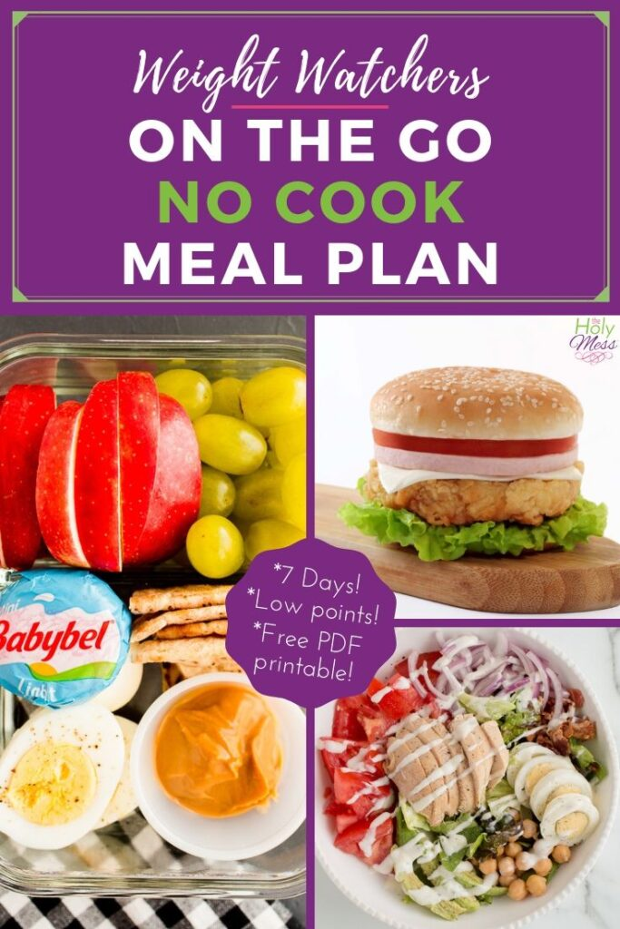 WW on the go 7 day no cook meal plan