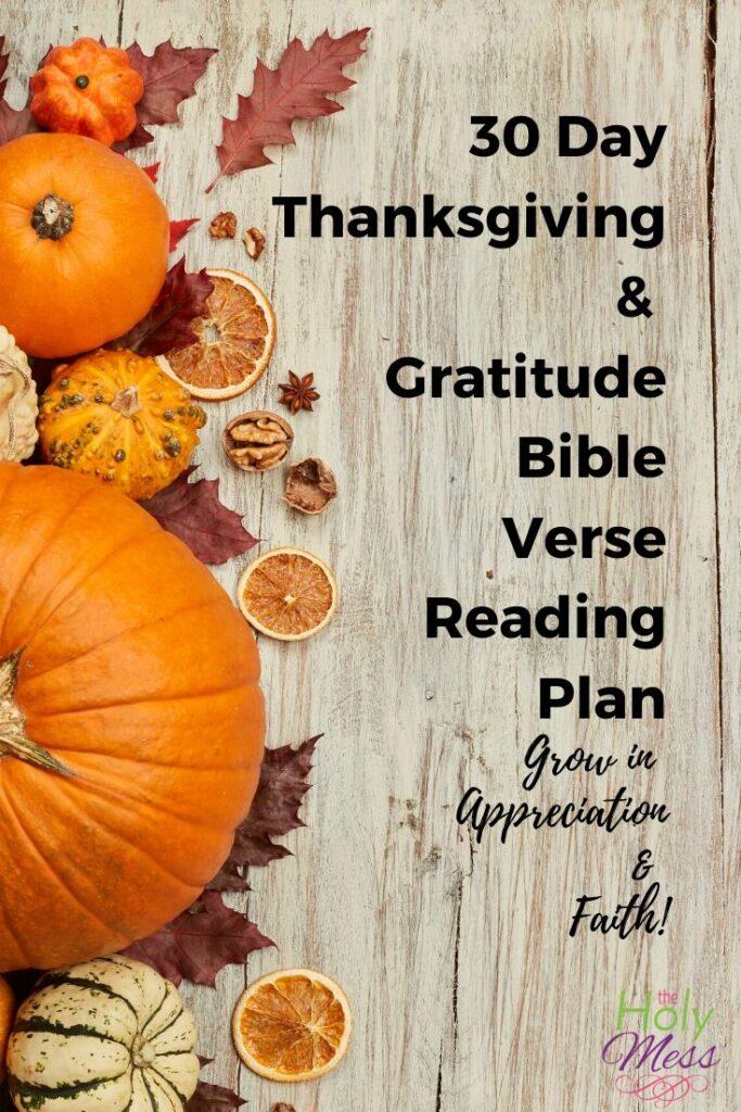 30 Day Thanksgiving Bible Reading Plan