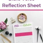 Bible Verse Reflection Sheet