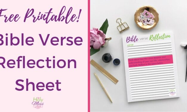 Free Bible Verse Reflection Worksheet
