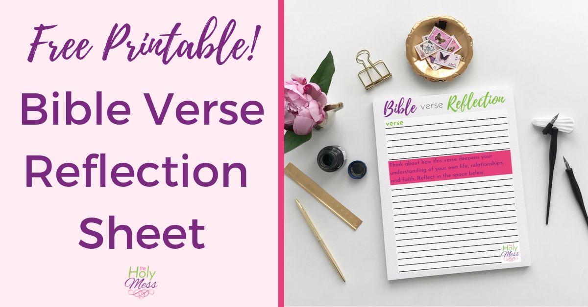 Free Bible Verse Reflection Worksheet