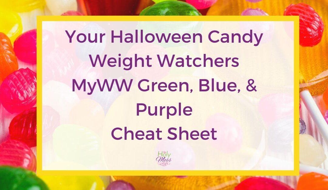 Halloween Candy Weight Watchers Cheat Sheet