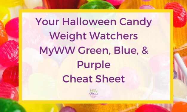Halloween Candy Weight Watchers Cheat Sheet