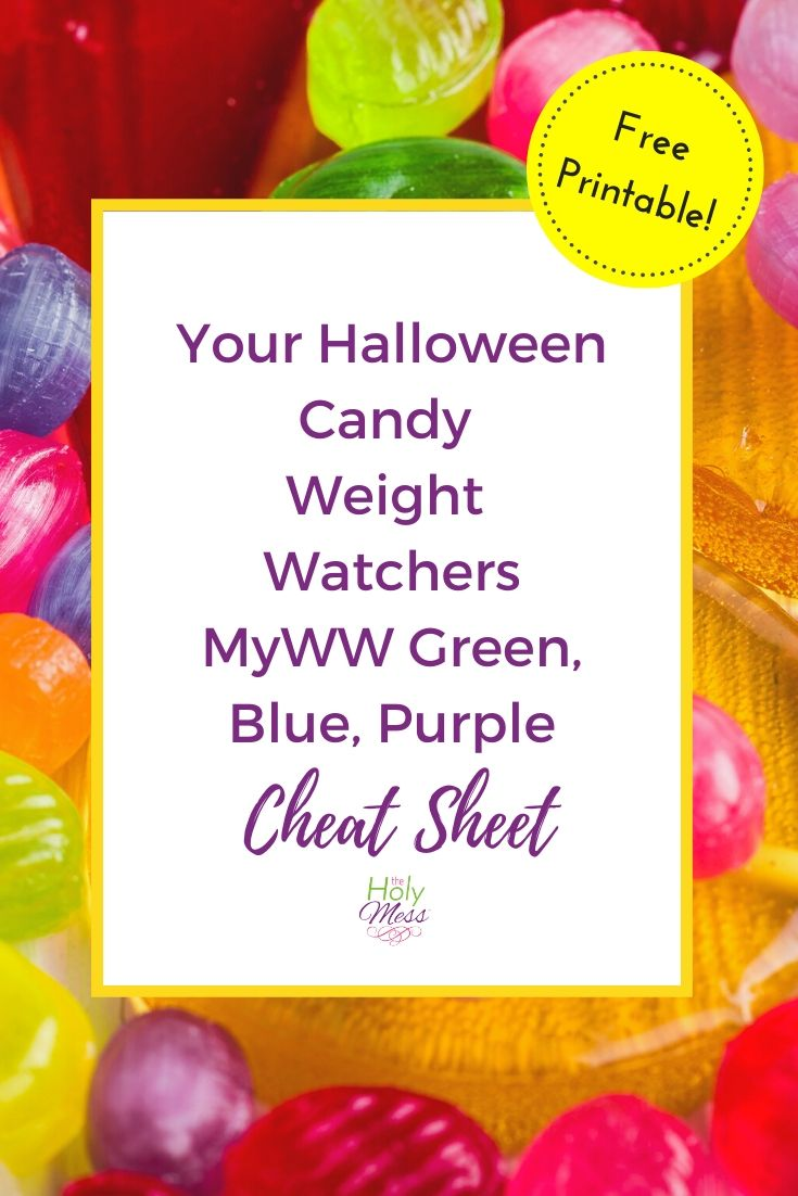 MyWW Halloween Candy Guide with Printable