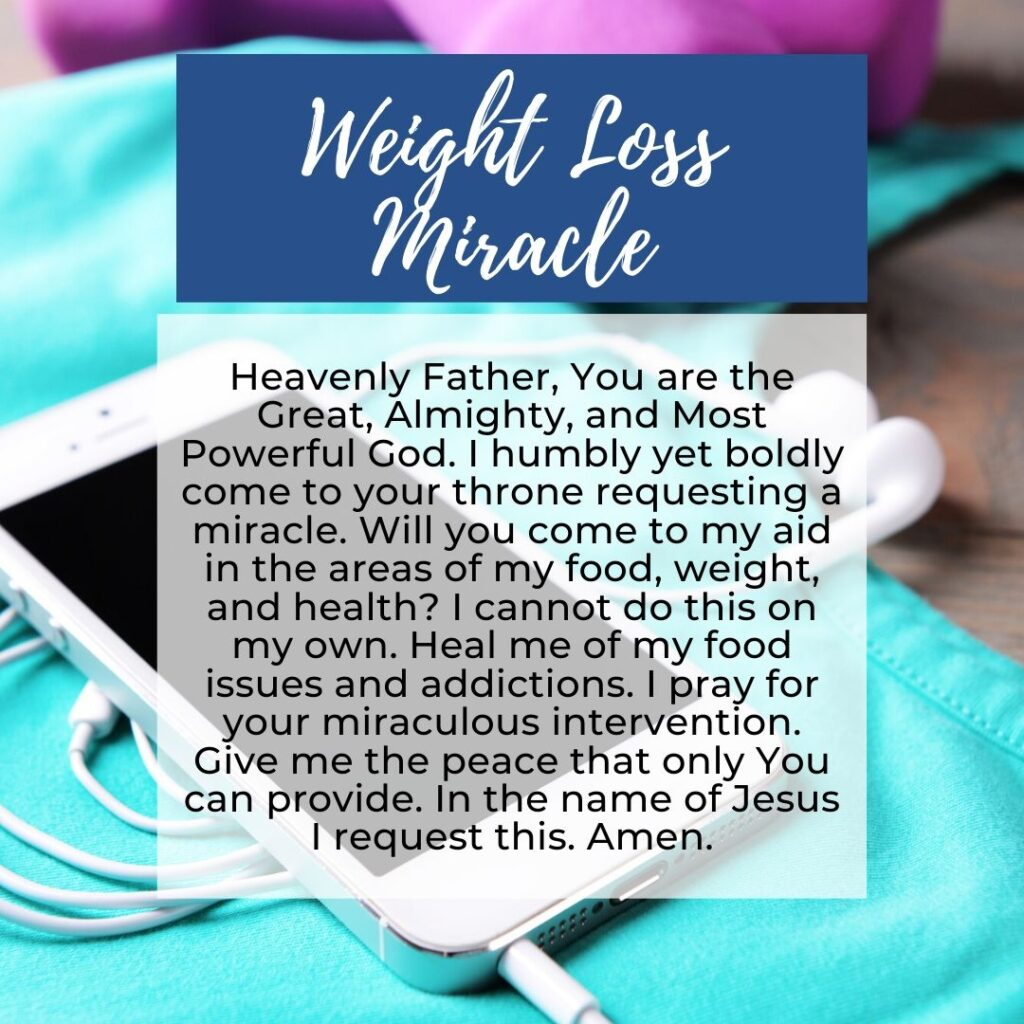 Prayer for Miracles in Weight Loss