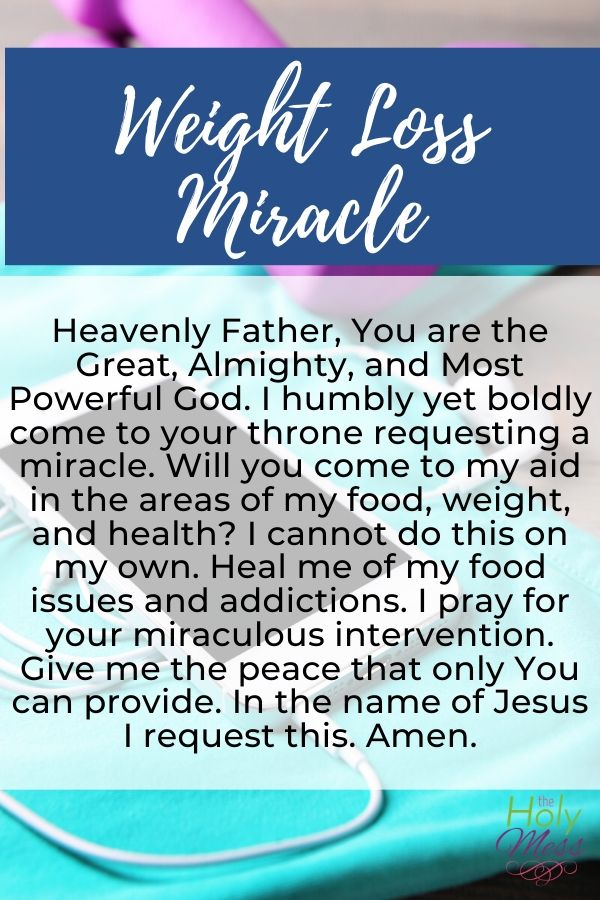 How to Pray for Miracle Weight Loss