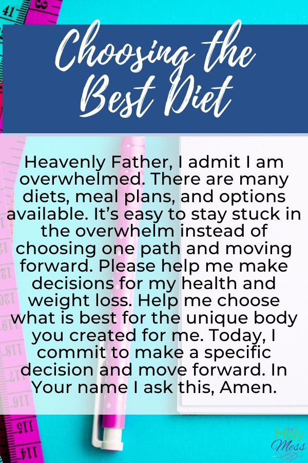 A Prayer for Choosing the Best Diet for You