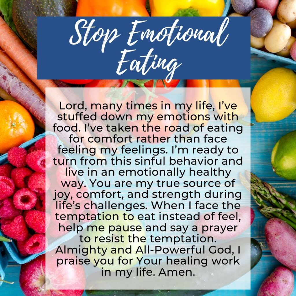 Stop Emotional Eating Prayer