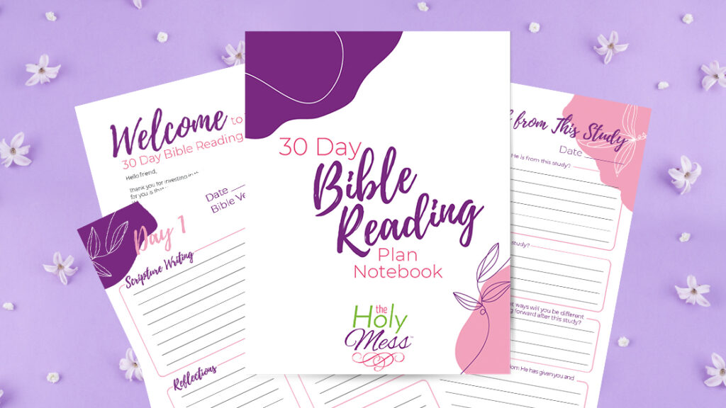 30 Day Bible Study Notebook, fanned out on table