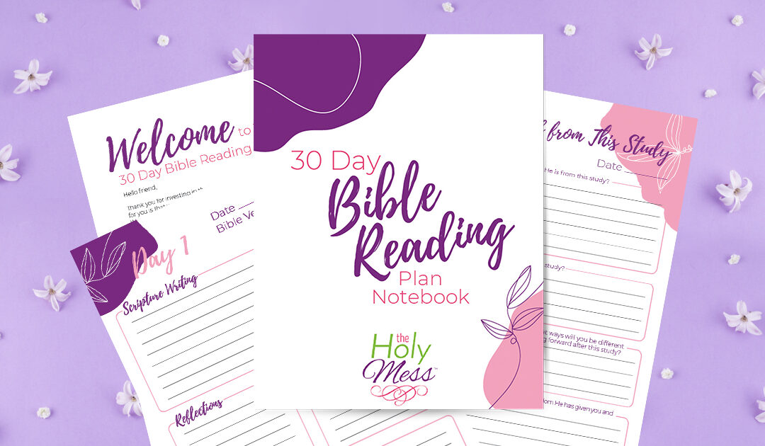 30 Day Bible Study Notebook PDF Printable