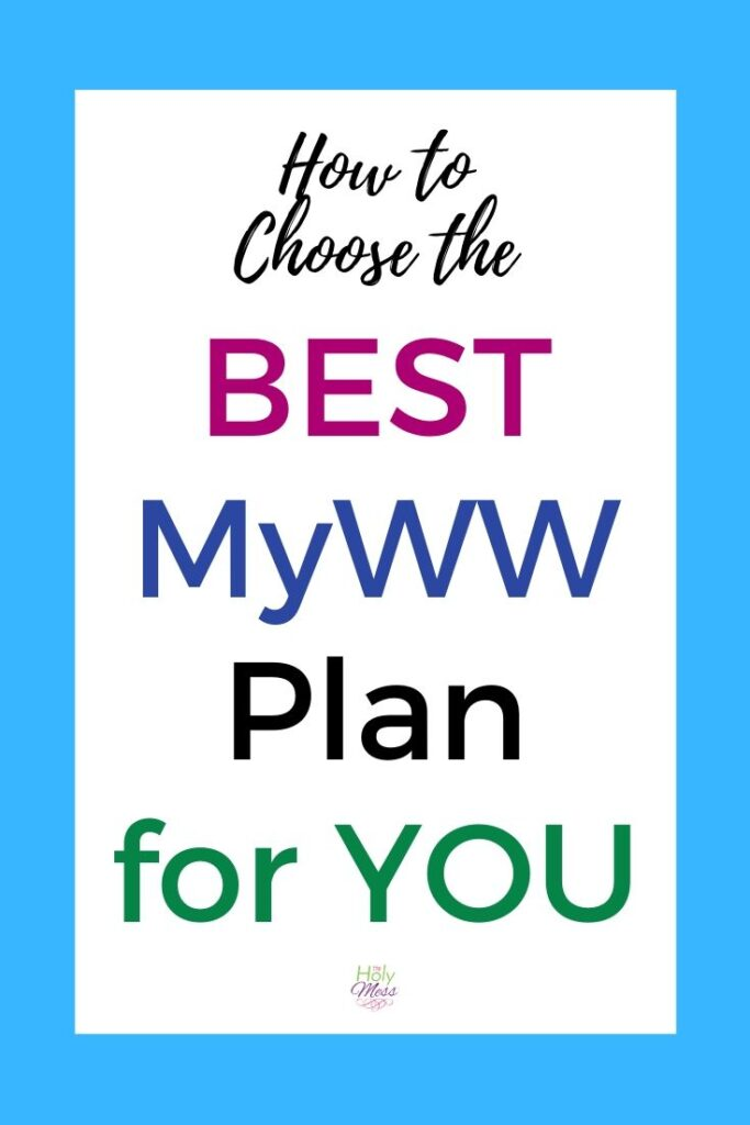 Choose the Best MyWW Plan for You Green Blue Purple